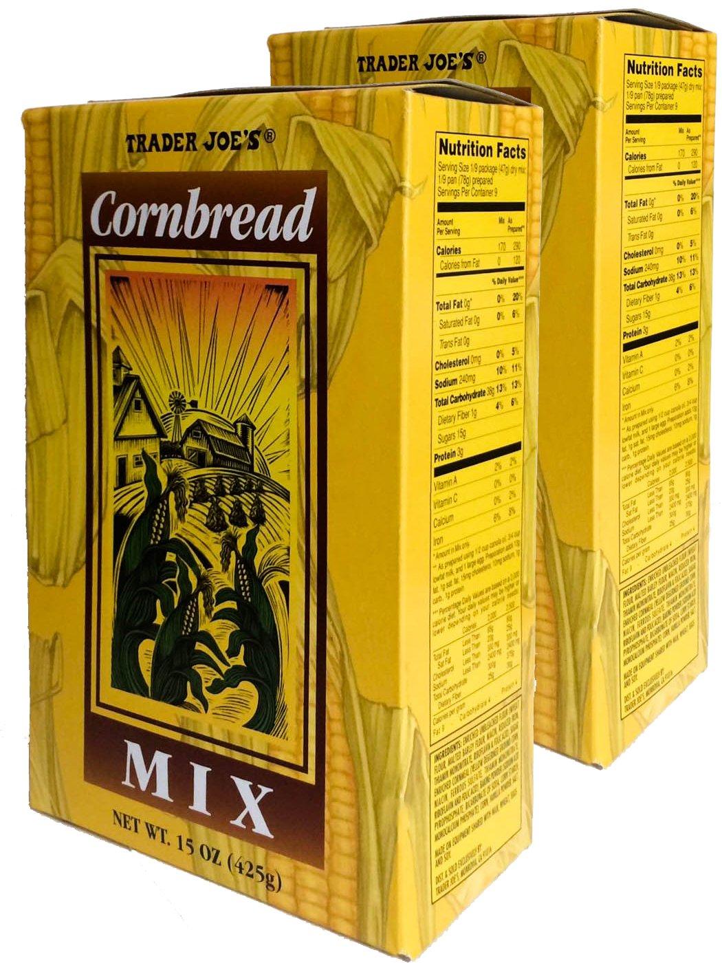 Trader Joe's Cornbread Mix 2 2021 latest pack Ounce 15