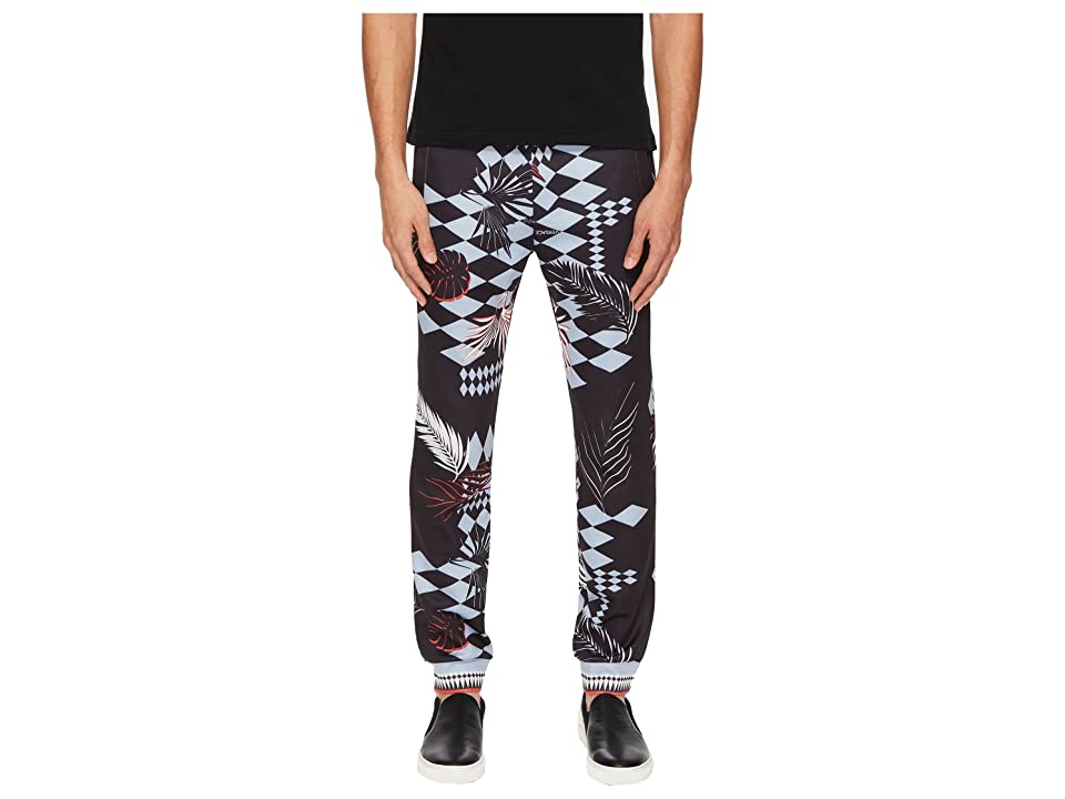 Versace Jeans Couture Exploded Graphic Sweatpants (Black) Men