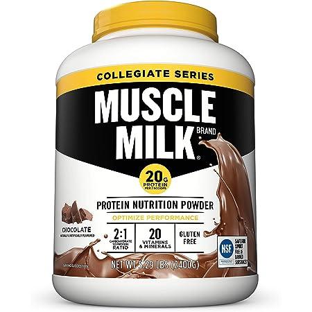 Amazon.com: Muscle Milk Collegiate Protein Powder, Chocolate, 20g Protein,  5.29 Pound: Health & Personal Care