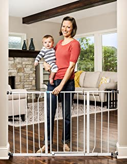 Regalo Easy Open 47-Inch Super Wide Walk Thru Baby Gate, Bonus Kit, Includes 4-Inch and..