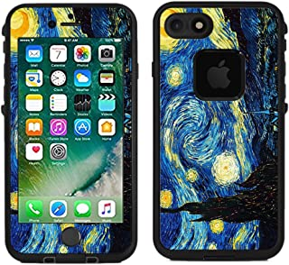 Teleskins Protective Designer Vinyl Skin Decals/Stickers for Lifeproof Fre iPhone 7 / iPhone 8 Case -Vincent Van Gogh The Starry Night Design Patterns - only Skins and not Case