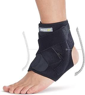 Bracoo Ankle Brace, Dual Spring Stabilizers, Open-Heel, Adjustable Support – Dynamic Splint Flexion Resistance, Joint Stress Reduction & Rehabilitation, FP30, S/M