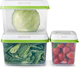Rubbermaid FreshWorks Produce Saver, Medium and Large Storage Containers, 6-Piece Set, Clear