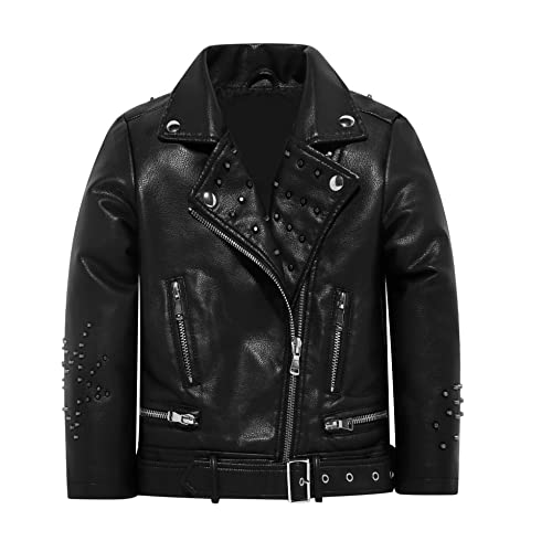 6f33031b7 Toddler Faux Fur Leather Jacket  Amazon.com