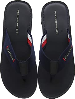Tommy Hilfiger T3B0-30213-0058 Blue Textile Infant Flip Flops Sandals