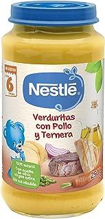 Nestlé Purés Tarrito de puré de verduras y carne, variedad Verduritas con Pollo y Ternera