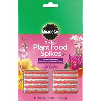Miracle-Gro Orchid Plant Food Spikes, 1 Pack of 10 Spikes