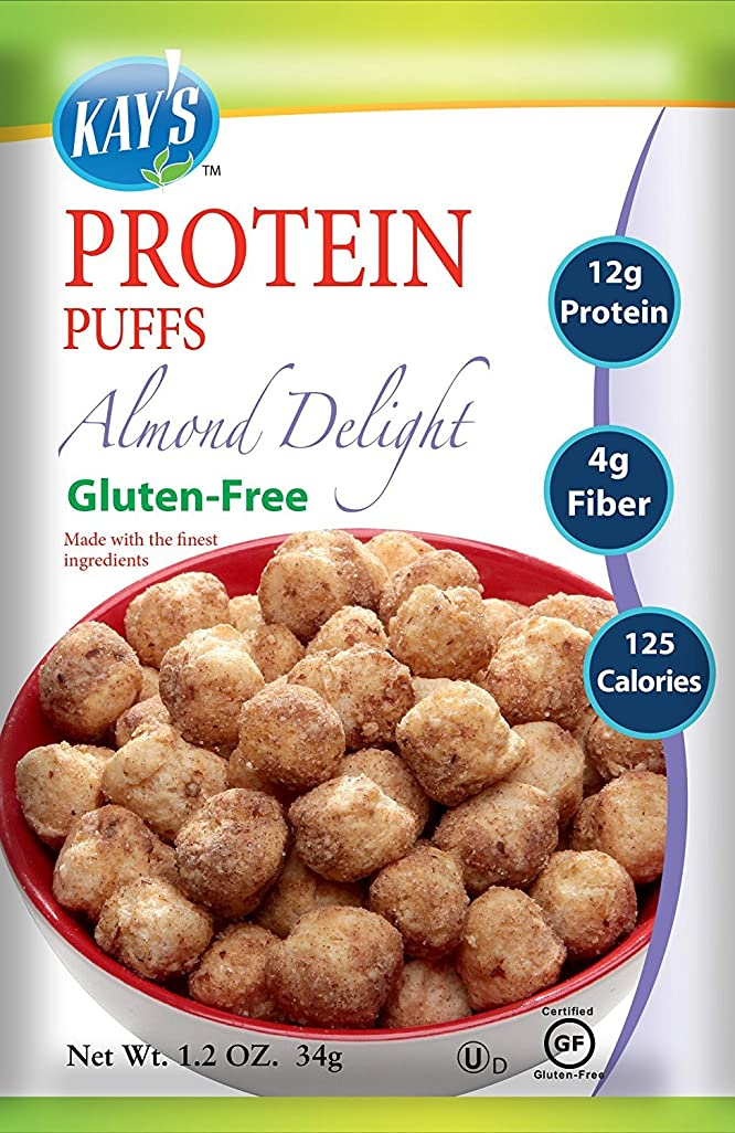 リスキーな呼ぶ運営Kay's Naturals Protein Puffs, Almond Delight, 1.2 ounces (Pack of 6) by Kay's Naturals [並行輸入品]
