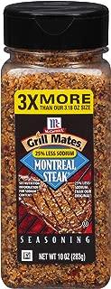McCormick Grill Mates 25% Less Sodium Montreal Steak Seasoning, 10 Ounce