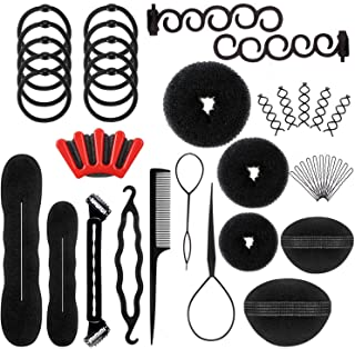 12 Styles Hair Styling Set, Cettkowns 40-Pack Fashion Hair Design Styling Tools Magic Simple Fast Hair Braid Tools DIY Hair Accessories for Women and Girls