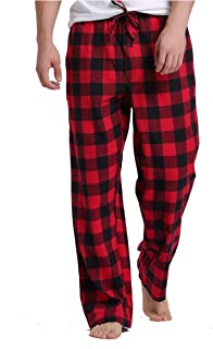 Sahara Men's 100% Cotton Plaid Flannel Pajama Pants - Classic Design for Comfortable Wear
