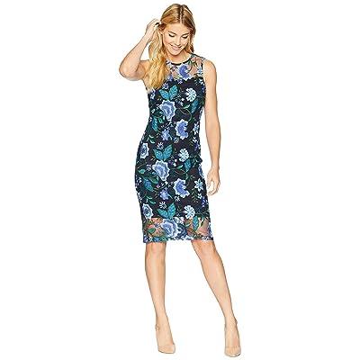 Calvin Klein Lace Sheath Dress CD8L94CY (Cypress Multi/Black) Women