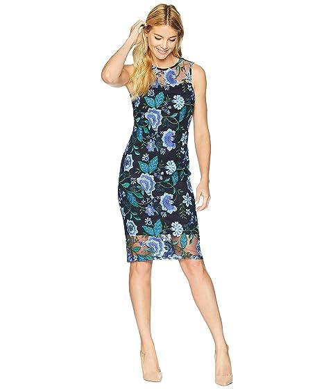 Calvin Klein Lace Sheath Dress Cd8l94cy At Zappos Com