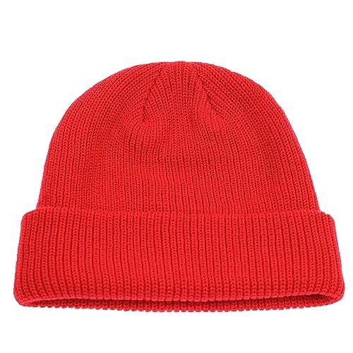 Decentron Classic Men s Warm Winter Hats Thick Knit Cuff Beanie Cap Daily Beanie  Hat 8f78fc542b4
