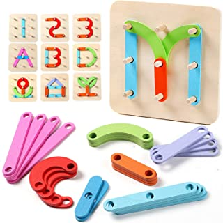 Lewo Wooden Letter Number Sorter Puzzle Preschool Activities Educational Toys for Kids