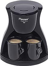 Bestron Duo-Kaffeemaschine inkl. 2 Tassen, Für gemahlenen Filterkaffee, 450 Watt, Schwarz