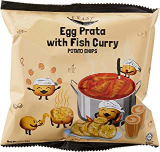F.EAST Potato Chips Carton, Egg Prata with Fish Curry, 22g (Pack of 30)
