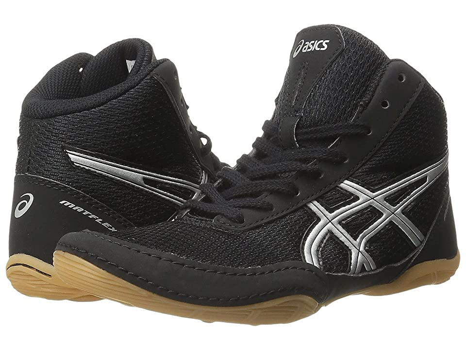 ASICS Kids Matflex 5 GS Wrestling (Toddler/Little Kid/Big Kid) (Black/Silver) Kids Shoes