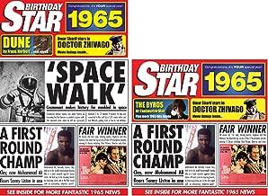 1965 Birthday Gifts Set - 1965 DVD Film , 1965 Chart Hits CD and 1965 Birthday Star Card