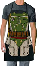 ICUP Star Wars - Bobba Fett The Character Adult Size 100% Cotton Adjustable Black Apron