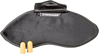 Wenger 604598 Eyemask with Ear Plugs, Black, 25 Centimeters