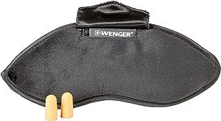 Wenger 604598 Eyemask with Ear Plugs, Black, 25 Centimeters