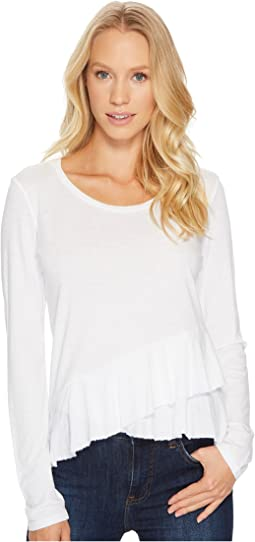 Lanston Wrap Ruffle Long Sleeve