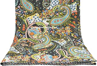Queen/Twin/King Quilten Indian Handgemaakte Paisley Print Kantha Quilt Katoen Kantha Deken Bed Cover Sofa Cover Kantha Spr...