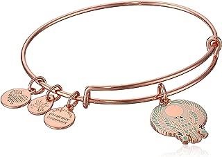 Alex and Ani Womens Falcon EWB Bangle Bracelet, Shiny Rose, Expandable