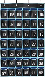 MISSLO Pocket Chart for Cell Phones 42 Numbered Classroom
