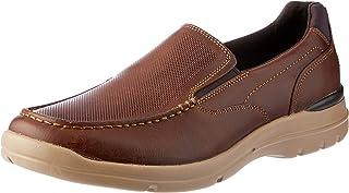 ROCKPORT Men's City Edge Slip On Walking Boston Tan Uniform Dress Shoes, Bostan Tan