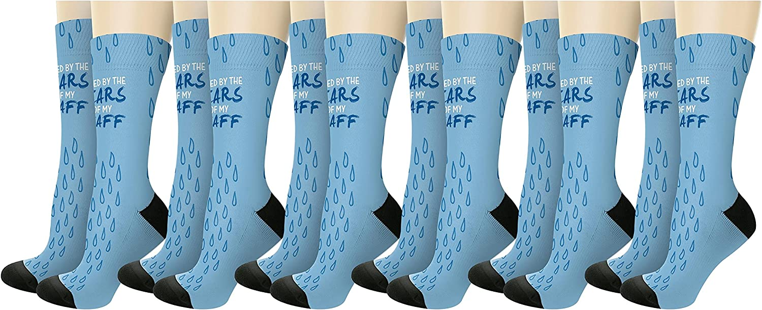 Fueled By The Tears Max 71% OFF Of Novelty My Socks Max 74% OFF Crew Staff