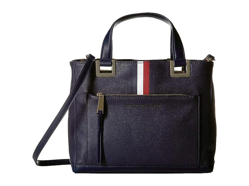 Tommy Hilfiger Althea Pebble PVC Shopper (Tommy Navy) Handbags