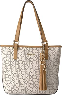 Calvin Klein - Claire North/South Monogram Tote