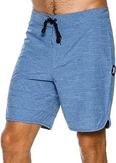 New Hurley Men's Phantom Block Party Slub Boardshort Cotton Fitted Spandex Blue