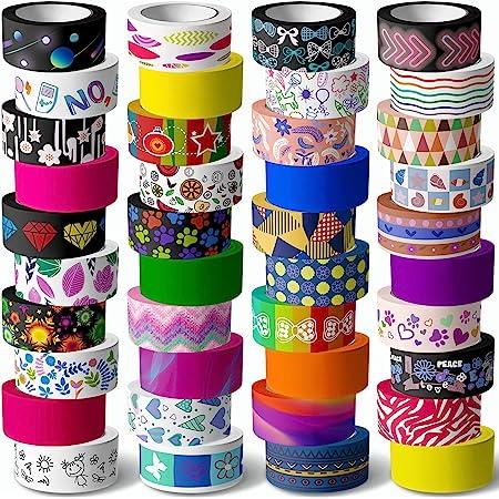Ruban adh/ésif d/écoratif pour scrapbooking f Lot de 12 rubans adh/ésifs Washi Tape Masking Tape