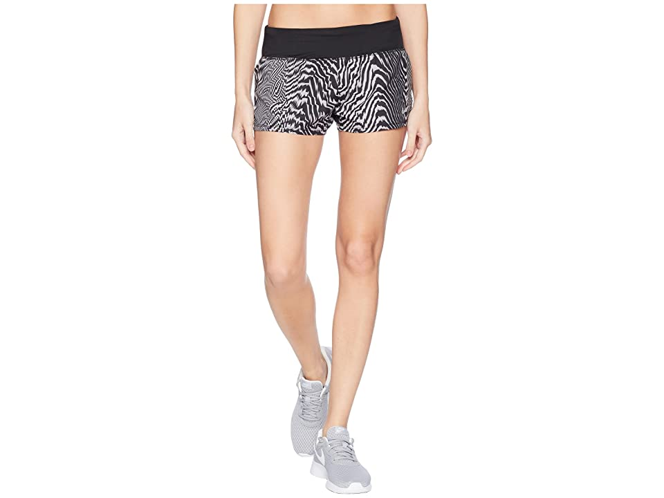 Nike Dry Crew Print Shorts (Black/Black) Women