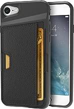 Smartish iPhone 7/8 Wallet Case - Wallet Slayer Vol. 2 [Slim Protective Kickstand] Credit Card Holder for Apple iPhone 8/7 (Silk) - Black Onyx