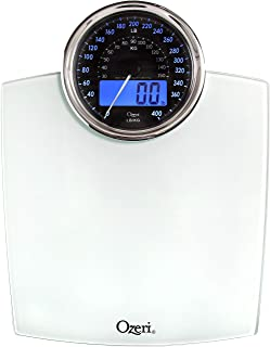 Ozeri Rev 400 lbs (180 kg) Bathroom Scale with Electro-Mechanical Weight Dial and 50 gram Sensor Technology (0.1 lbs / 0.0...