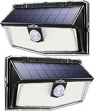 LITOM 160 LED Outdoor Solar Motion Sensor Lights, IP67 Waterproof Solar Powered Security Lights Wireless Solar Wall Lights...