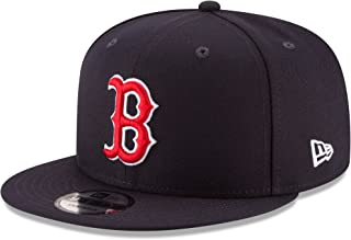 New Era Boston Red Sox Adjustable 9Fifty MLB Flat Bill Baseball Cap 950