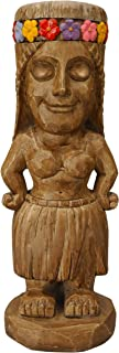 Moonrays 95962 Tiki Themed Outdoor Solar Light Garden Gnome Island Princess