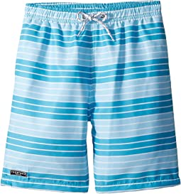 Toobydoo - Aqua Stripe Swim Shorts (Infant/Toddler/Little Kids/Big Kids)