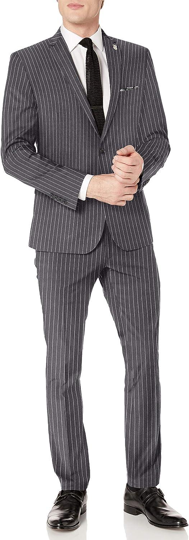 Nick Graham Men's Slim Fit Finished Bottom Suit