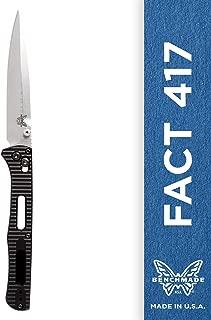 Benchmade - Fact 417 Minimalist Manual Open Folding Knife Made in USA, Spear-Point Blade, Plain Edge, Satin Finish, Aluminum Handle