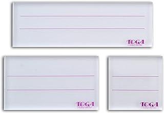 Toga TP16B Set de 3 Blocs Acryliques Plastique Transparent 16 x 27 x 2 cm
