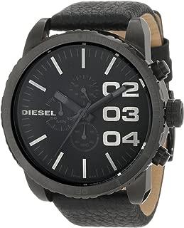 Diesel Men's Double Down Chronograph Black-Tone Stainless Steel Watch DZ4216