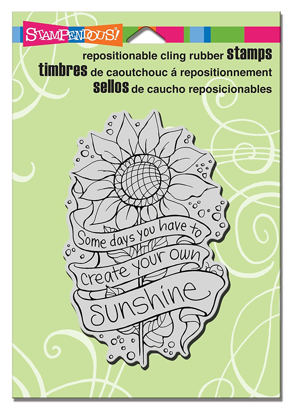 STAMPENDOUS CRP286 ? Cling Rubber Stamp, Create Sunshine