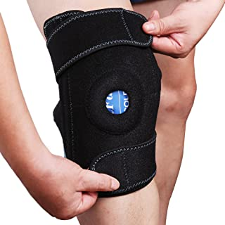 Knee Brace with Ice Pack, LotFancy Hot Cold Therapy Wrap, Knee Support for ACL, Meniscus Tear, Orthopedic Injuries, Bursit...