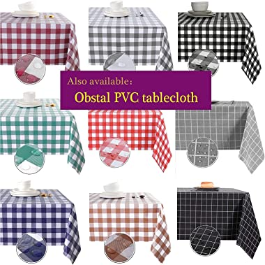 Obstal Rectangle Table Cloth, Oil-Proof Spill-Proof and Water Resistance Microfiber Tablecloth, Decorative Fabric Table Cover
